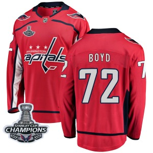 Travis Boyd Washington Capitals Fanatics Branded Breakaway Home 2018 Stanley Cup Champions Patch Jersey (Red)